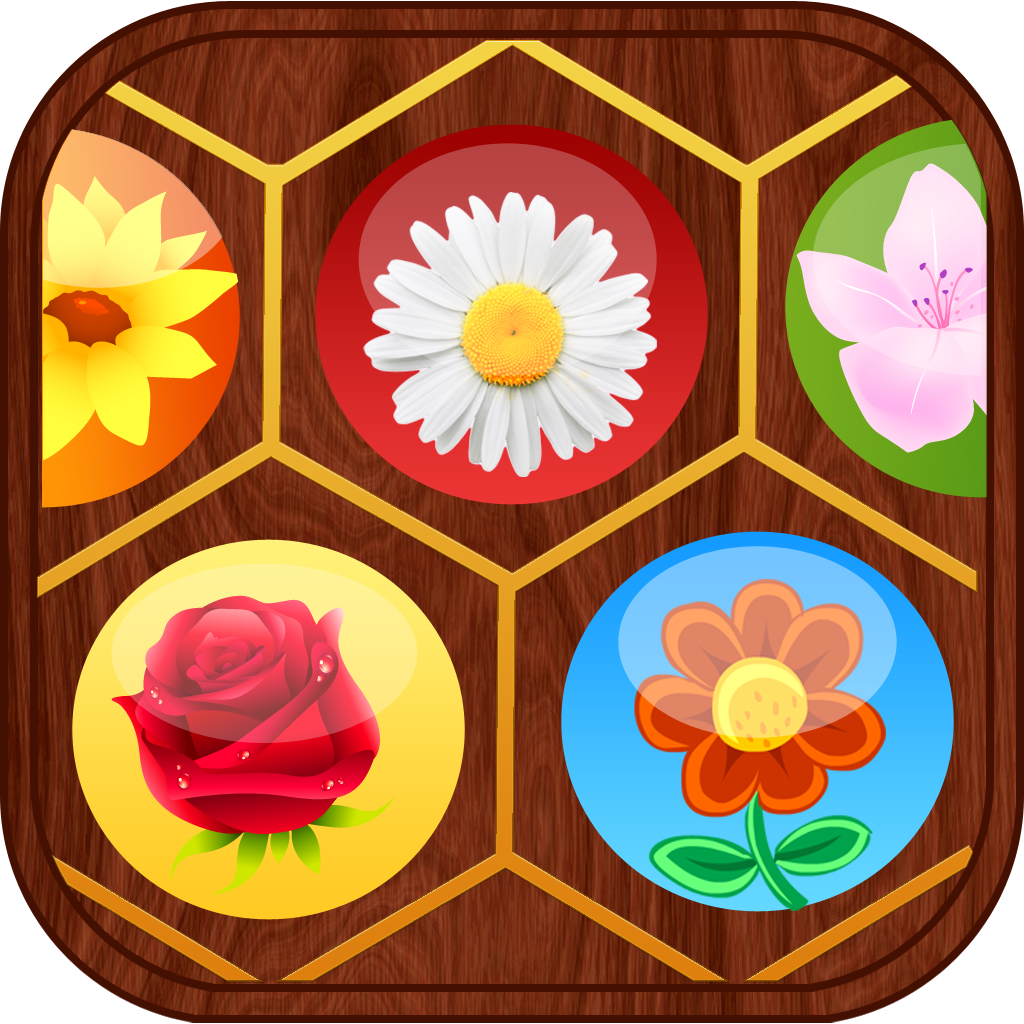 Flower Fields Pro: Garden Match 3 Game Puzzle (For iPhone, iPad, iPod)